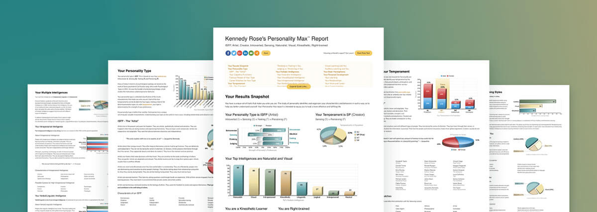 Free Personality Test - 20 Pages About You at Personality Max